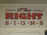 The Right Signs - Banner