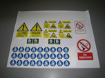 Selection of safety signs